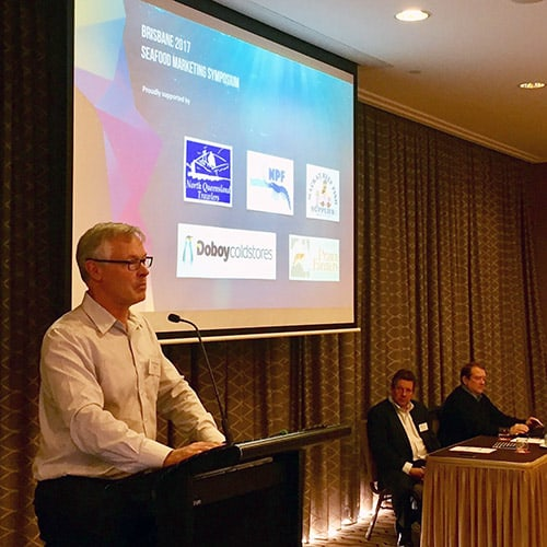 Patrick Hone, FRDC at Seafood Marketing Symposium