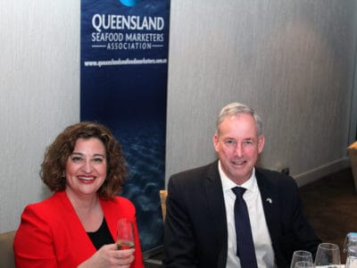 Gala Dinner - Veronica Papacosta, Chair Seafood Industry Australia with Senator the Hon. Richard Colbeck